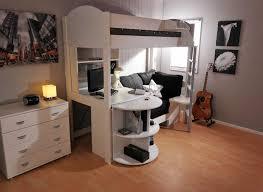 hochbett mit schreibtisch und sofa hochbett ohne rutsche und inkl schreibtisch in weiß farbe mit