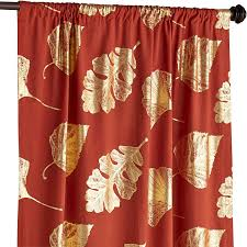 Pier One Paisley Curtains by Burnt Umber Ginkgo Foil Curtain Spice Cotton Window