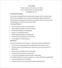 Sales Resume Example by Retail Resume Template U2013 10 Free Samples Examples Format