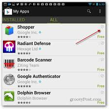 my android apps how to clear play store app history