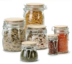 traditional glass storage jar 1 litre kitchen storage