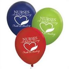 nurses day balloons nurses excellence compassion commitment heart shaped foil