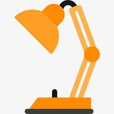 le de bureau orange orange de la le le de bureau dessin vecteur image png