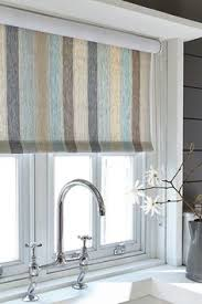 like the idea of using a printed fabric for the blinds to add