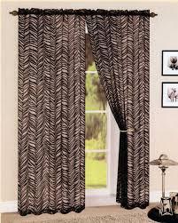 Leopard Curtains Brown Curtain Kenya Safari Animal Print Semi Sheer Panels Zebra