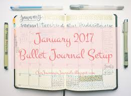 our journey in journals january 2017 bullet journal setup