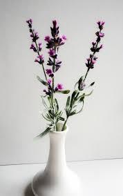 Lavender Home Decor Handmade Flower Lavender Floral Polymer Clay Cold Porcelain