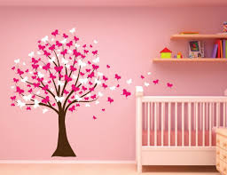 amazon com large wall tree baby nursery decal butterfly cherry