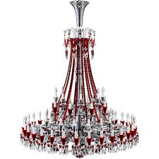 Red Chandelier by Cad And Bim Object Zenith Clear And Red Chandelier 64l Baccarat