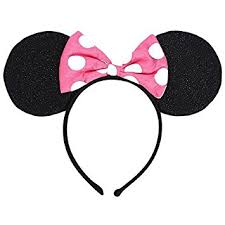 amazon minnie mouse deluxe mouse ears headband 1 piece toys