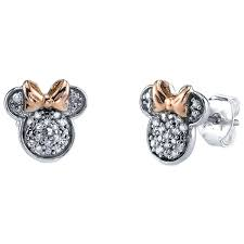 diamond earrings minnie mouse icon diamond earrings shopdisney