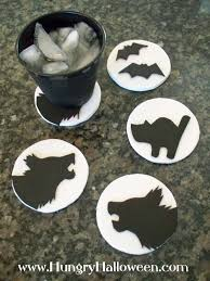 Bat Biscuits For Halloween by Halloween Craft Cookie Cutter Coasters Hungry Happenings