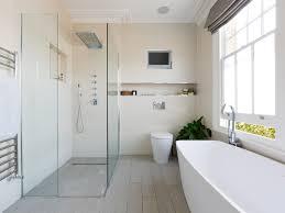 Modern Wall Storage Bathroom Bathroom Tv Ceiling Lighting Tv Venetian Blinds Walk In