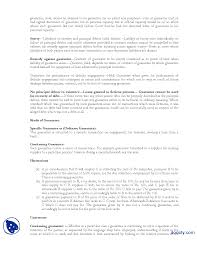 contract of guarantee business and labour law lecture handout