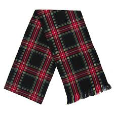 ladies black stewart tartan plaid sash 10 5 x 90 inches amazon