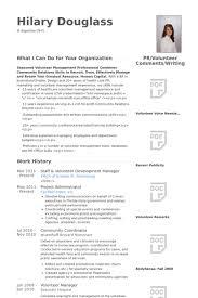How To Include Volunteer Work On Resume Resume Template With Volunteer Experience Volunteer Resume Samples