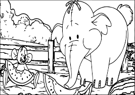 winnie the pooh elephant mouse coloring page wecoloringpage