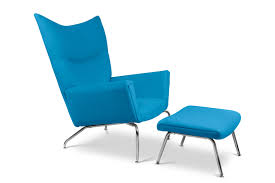 Teal Chair And Ottoman Hans J Wegner Wing Chair And Ottoman Italiadesigns