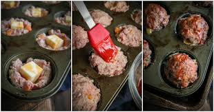 mini cheese stuffed meatloaf cups sweetphi
