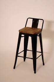 Low Back Bar Stool Stools Tolix Bar Stool Low Back Rustic Industrial Wood Metal Low