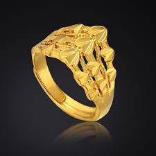 wholesale gold rings images Heart shaped engagement rings for women gold color gothic jpg