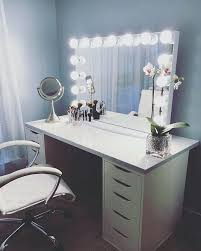 Ikea Vanity Table With Mirror And Bench Portentous Ikea Vanity Desk Design Table With Mirror And Lights
