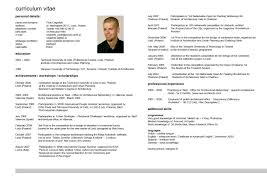 Sample Curriculum Vitae Template Download by English Resume Haadyaooverbayresort Com