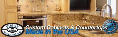 Kitchen And Bath Cabinets Vision Kitchen And Bath Custom Cabinets And Countertops