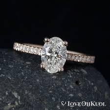amerikanischer verlobungsring gold oval brillant cut diamant verlobungsring prong
