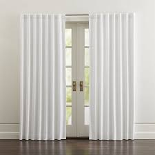Black And White Blackout Curtains Wallace White Blackout Curtains Crate And Barrel With Regard To