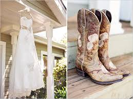 wedding dresses to wear with cowboy boots country chic sana rosa wedding cowboy boots cowboys and wedding
