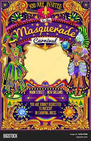 Event Invitation Card Mardi Gras Festival Poster Illustration New Orleans Night Show