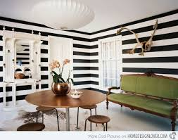 Black And White Striped Dining Chair Striped Wall Accents In 15 Dining Room Designs Home Design Lover