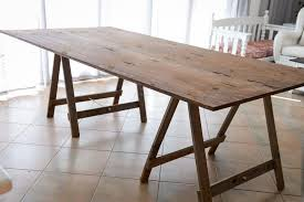 wooden trestle table legs the inspired table make simple things beautiful brilliant wooden