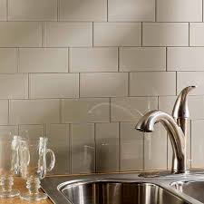 aspect peel stick tiles offered by diy decor store aspect backsplash 3x6 glass tile in putty