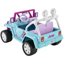 pink jeep 2 door power wheels disney frozen jeep wrangler 12 volt battery powered