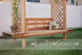 Wood Lawn Bench Plans by Ana White Outdoor Bench With Arbor Diy Projects