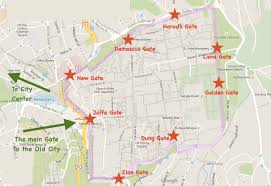 Map Of Al Maps Of Jerusalem Old City Town Center Tourist Attractions