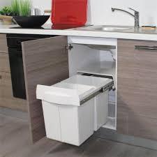 poubelle de cuisine poubelle de qualité avec coulisse métallique 2x20 litres pour la
