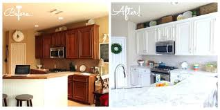 Painted White Kitchen Cabinets Before And After Painted White Kitchen Cabinets Farmhouse Kitchen Idea In New With