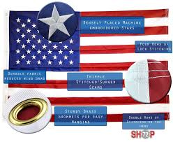 Flag With Four Red Stars Overstocktoyz