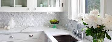 Herringbone Gray Backsplash Herringbone Carrara White Marble - Carrara backsplash