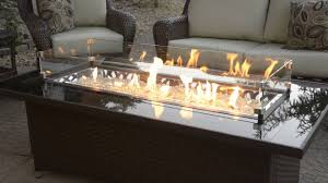 Outdoor Greatroom Montego Fire Pit Table With Balsam Wicker Base At