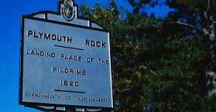 sign marking plymouth rock massachusetts pictures