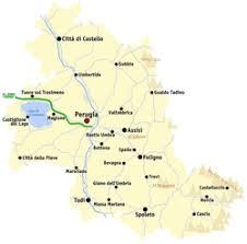 map of perugia province of perugia