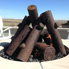 gas log fire pit table ceramic logs for fire pit warming trends ceramic fire pit log set
