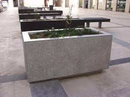 Black Planter Boxes by Concrete Planter Boxes Touch Your Outdoor Space With Beautiful