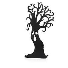 66 1 2 metal haunted tree silhouette yard decoration 8376295 hsn