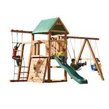 Home Depot Sand Box Swing N Slide Playsets Bighorn Play Set Add 4x4 U0027s And Slide Pb