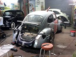 modified volkswagen beetle porsche engine conversion in to vw beetle v two concept